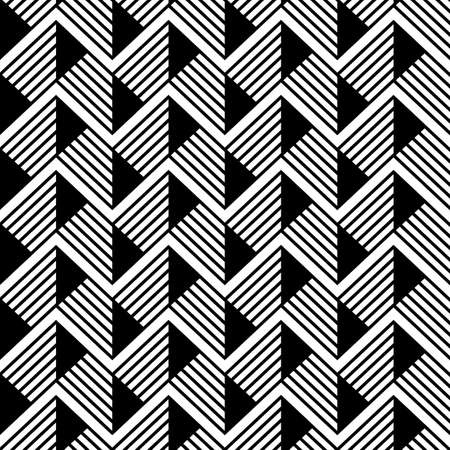 Abstract geometric pattern with stripes. seamless waves vector background. Black and white texture.