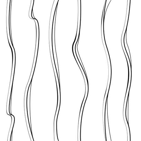 Simple linear waves. Wavy line pattern, mesh, seamless vector background. 矢量图像