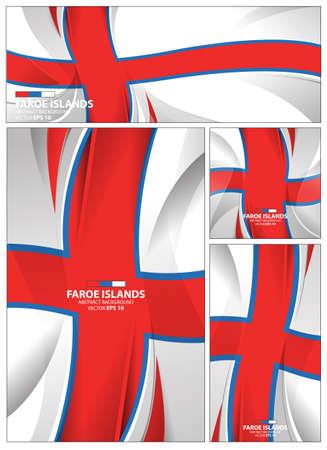 Faroe Islands flag abstract colors background. Collection banner design. brochure vector illustration. 矢量图像