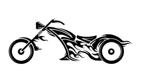 Motorcycle tribal  template.