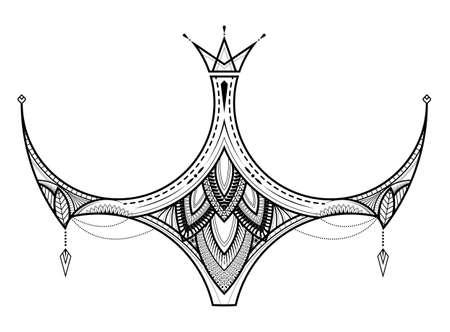 Maori ethnic style for tribal tattoo design. Polynesian tattoo ornament. vector illustration.