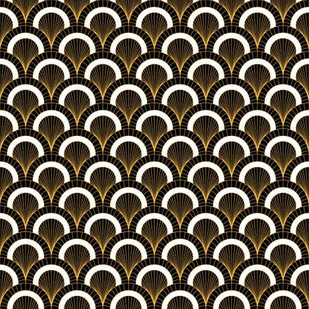 Art deco Geometric decorative with circles pattern. vector illustration. Illusztráció