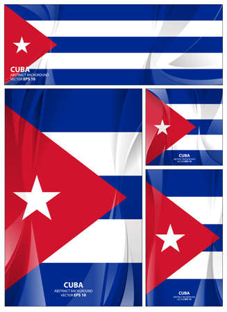 Cuba flag abstract colors background. Collection banner design. brochure vector illustration.
