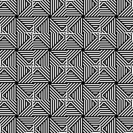 Abstract geometric pattern with stripes, lines. Black and white texture.