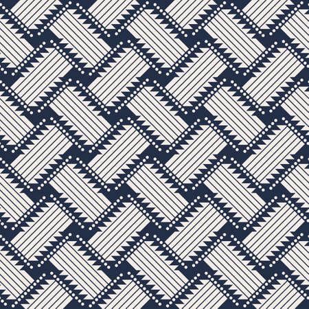 Abstract Wicker rattan seamless. weave pattern background 矢量图像