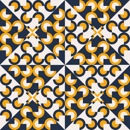 Seamless geometric pattern with circles. Abstract modern background. 矢量图像