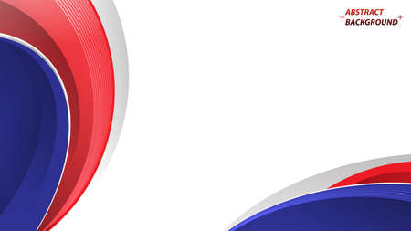 Abstract elegant background design with space for your text. Corporate concept red blue white vector illustration. 矢量图像