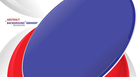 Abstract elegant background design with space for your text. Corporate concept modern red blue white vector illustration.