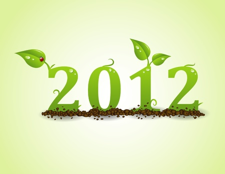 2012, Ecology concept Vector