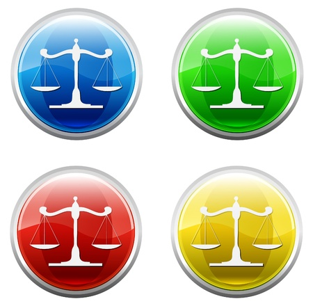 ontology: Button justice Stock Photo