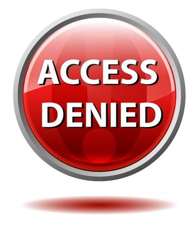 Access denied button photo