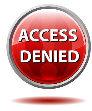 denied: Access denied button Stock Photo
