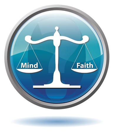 Mind or Faith button photo