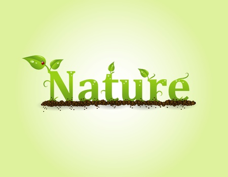 Nature text On a gradient background Stock Photo - 10127814