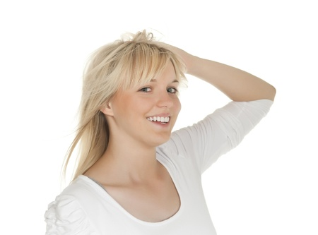 soulfulness: laughing young woman  Stock Photo
