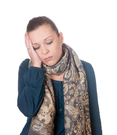 young women has headache Stock Photo - 11863699