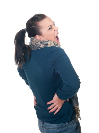 young woman has back pain Stock Photo - 11863697