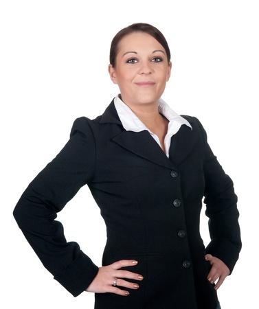 arms akimbo:  businesswoman