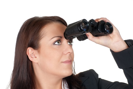businesswoman with binoculars photo