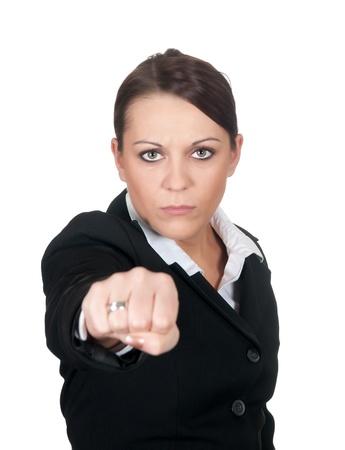 aggressive businesswoman Stock Photo - 12580267