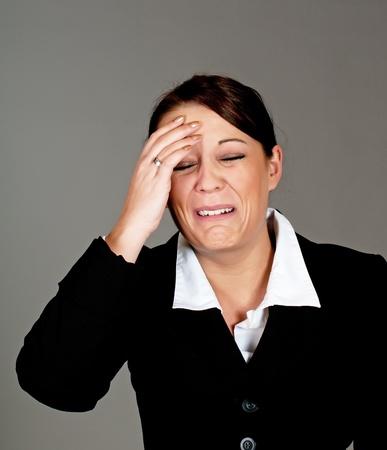 businesswomen crying photo