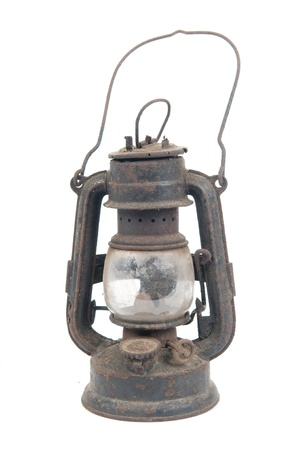 old rusty kerosene lamp  photo
