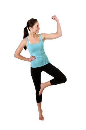 woman showing her muscles Stock Photo - 17098559