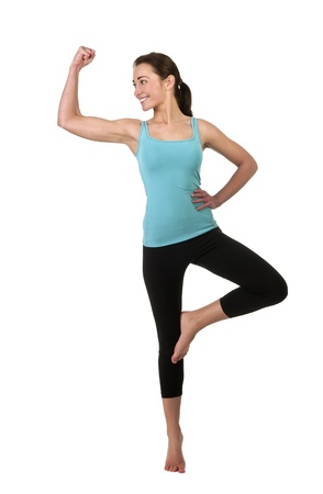 woman showing her muscles Stock Photo - 17098569