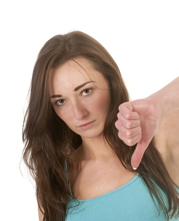 young women showing thumb up