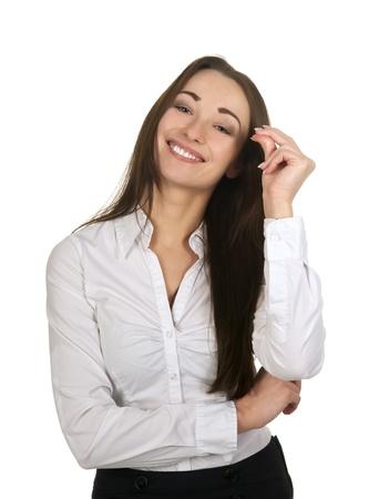 happy businesswoman snaps her fingers Stock Photo - 17966136