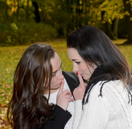 beautiful girlfriends have a secret photo