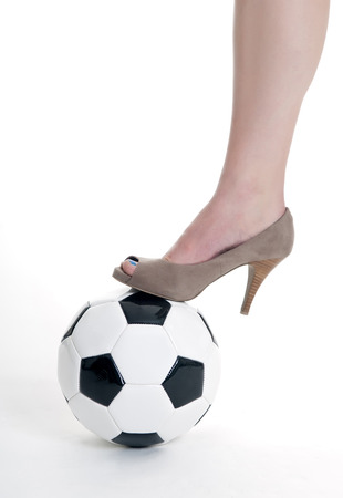 soccer ball and high heels photo