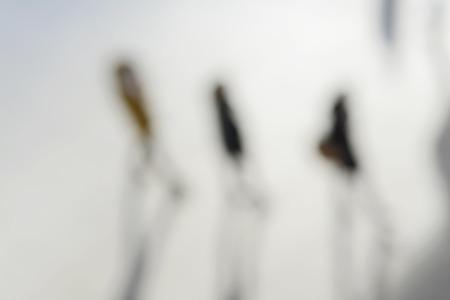 pedestrians: blurred background, pedestrians Stock Photo