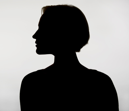incognito: silhouette of a young  woman