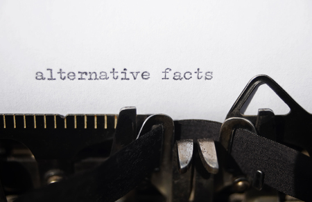 alternative facts on old typewriter