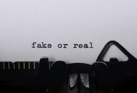 fake or real on old typewriter