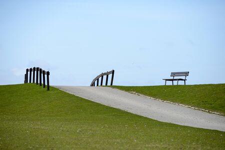 bench on dike