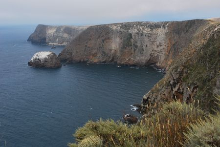 Santa Cruz Island, Cavern Point Фото со стока