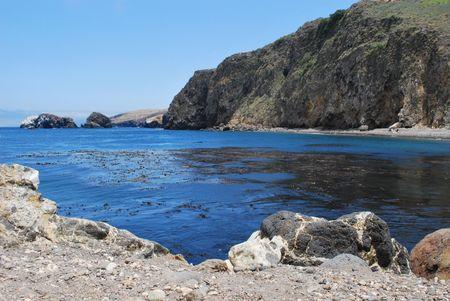 Scorpion Bay, Santa Cruz es., Islas del Canal, CA Foto de archivo - 3245770