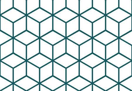 Abstract seamless background with cube decoration. Vector geometric pattern. Optical illusion.