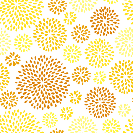 Abstract summer seamless pattern with dandelions. Doodle style. Vector illustration. Ilustrace