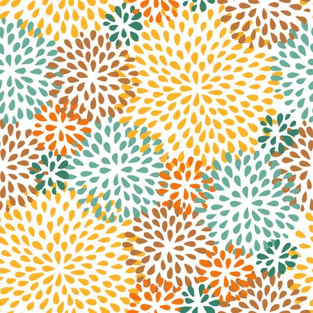 Autumn floral seamless pattern. Doodle style. Abstract vector illustration. Illustration