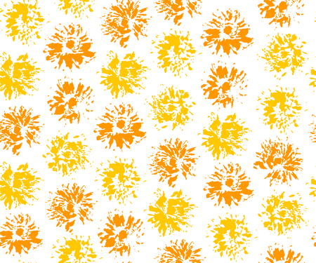 Seamless pattern with imprints of dandelions. Vector illustration. Illustration