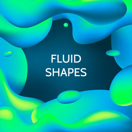 Template for cover design with fluid colorful shapes. Modern abstract background. Vector illustration. Illustration