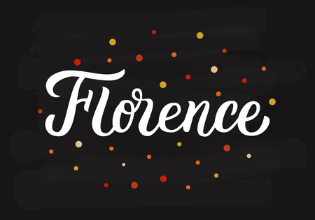 Florence - hand lettering sign.