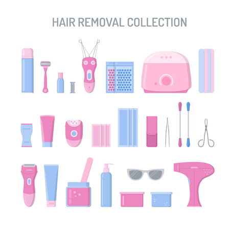 Hair removal items collection