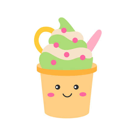 Cute ice cream 向量圖像
