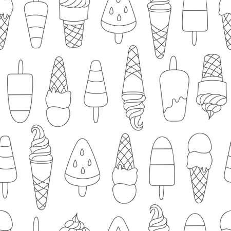 Doodle ice cream pattern