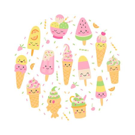 Ice cream round concept