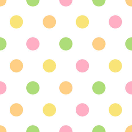 Polka dots seamless pattern 向量圖像